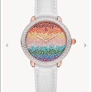 Serein Mid Carousel Pavé Pink Gold Diamond Watch